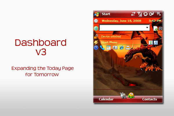 Dashboard v3 - Windows Mobile Device Software